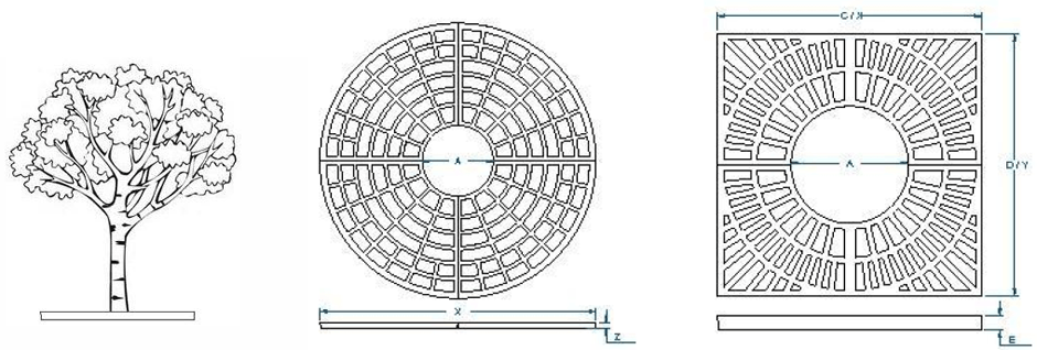 Tree grate dimensions