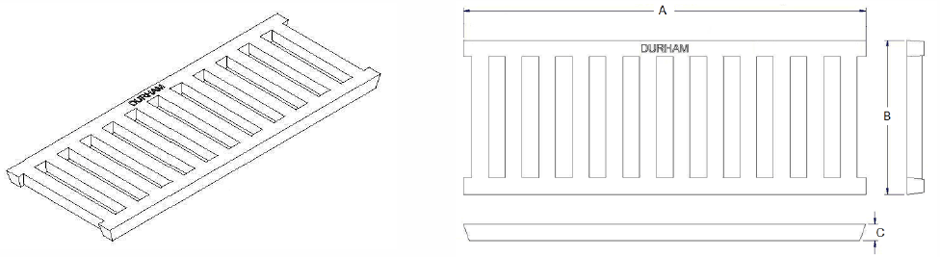 Cast iron trench grate dimensions