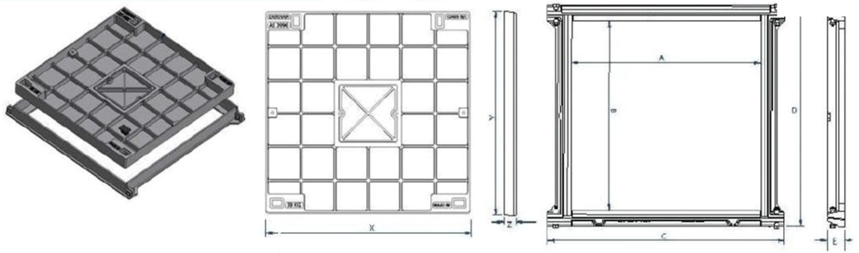 Infill access covers & frames dimensions