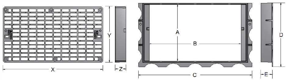 Kewrb entry grate and frame dimensions