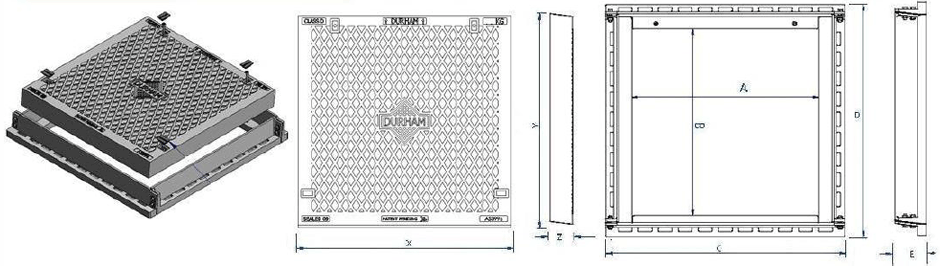 SOlid top access cover Class D dimensions