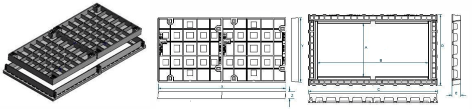 Two part infill and cover class d dimensions