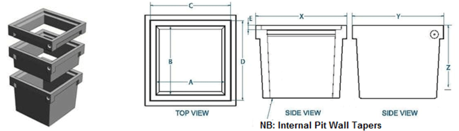 Commercial use riser dimensions