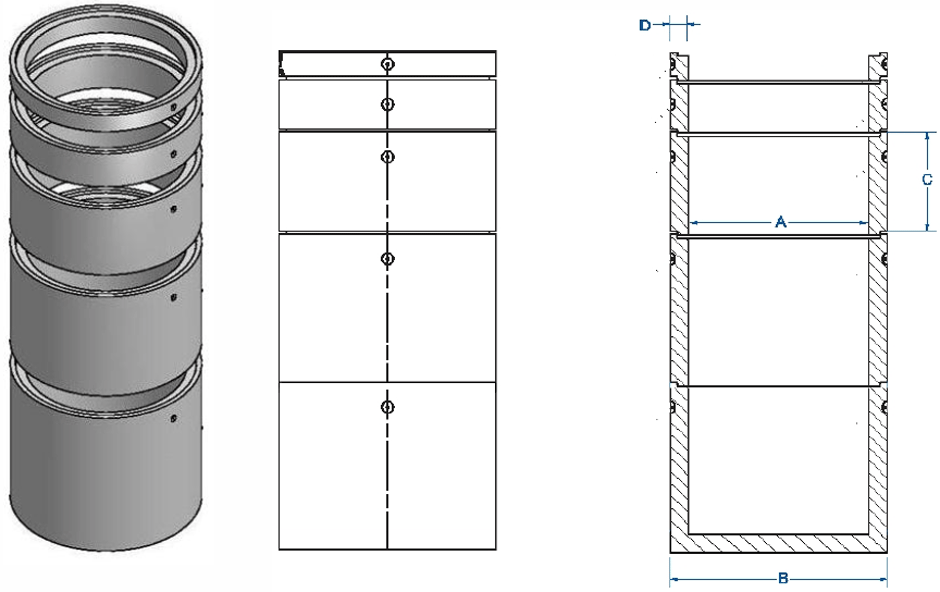 Round access chamber dimensions