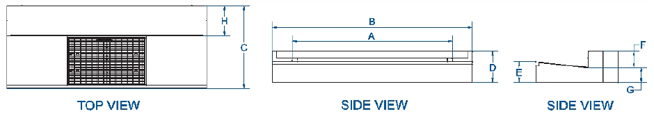 RTA type complete kerb entry lintel dimensions
