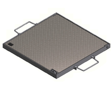 Galvanised Chequer Plate Cover & Frame - LT