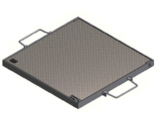 Galvanised Chequer Plate Cover & Frame - HT