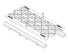 Ductile Pedestrian Guard Trench Grate & Frame - Class D