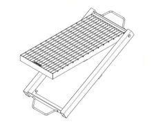 Galvanised Kerb Inlet Grate & Frame - Class C