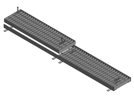 Galvanised Trench Grate & Frame - HT