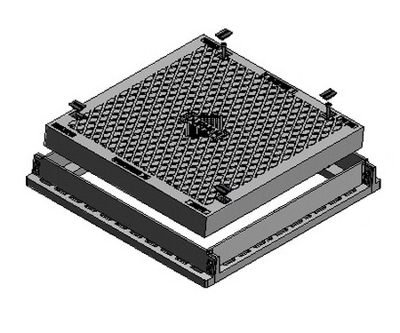 Solid Top Access Cover & Frame - Class D