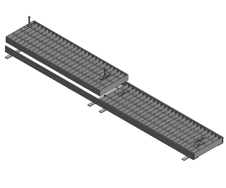 Galvanised Trench Grate & Frame - HD