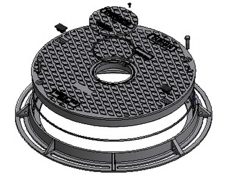 Solid Top Round Cover & Frame - Class D