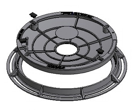 Infill Type Round Cover & Frame - Class B