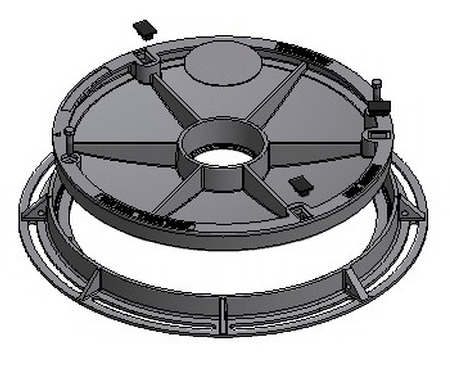 Infill Type Round Cover & Frame - Class D