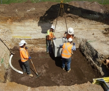 Installing of HV Drainage Pit location.JPG