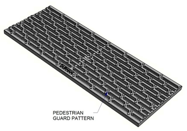 Stainless Steel Trench Grates Pedestrian Guard Durham