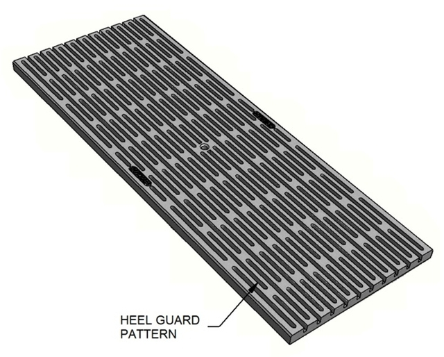 Stainless Steel Trench Grates Heel Guard Durham