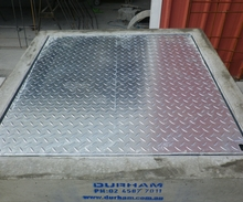 Galvanised Chequer Plate Lids